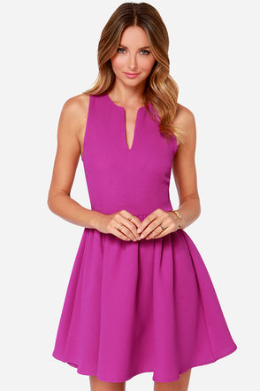 Change of Pace Sleeveless Magenta Dress