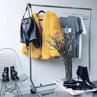 coat faux fur jacket faux fur coat faux fur yellow coat yellow oversized oversized jacket yellow faux fur winter coat closet