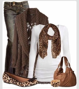 flats scarf sweater cardigan outfit winter sweater