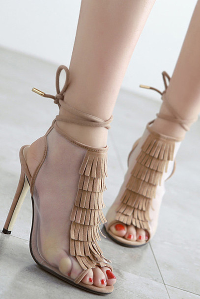 Shoes Zaful Heels High Heels Sandals Fashion Trendy
