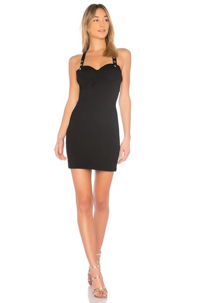 bobi dress sweetheart dress matte black knit