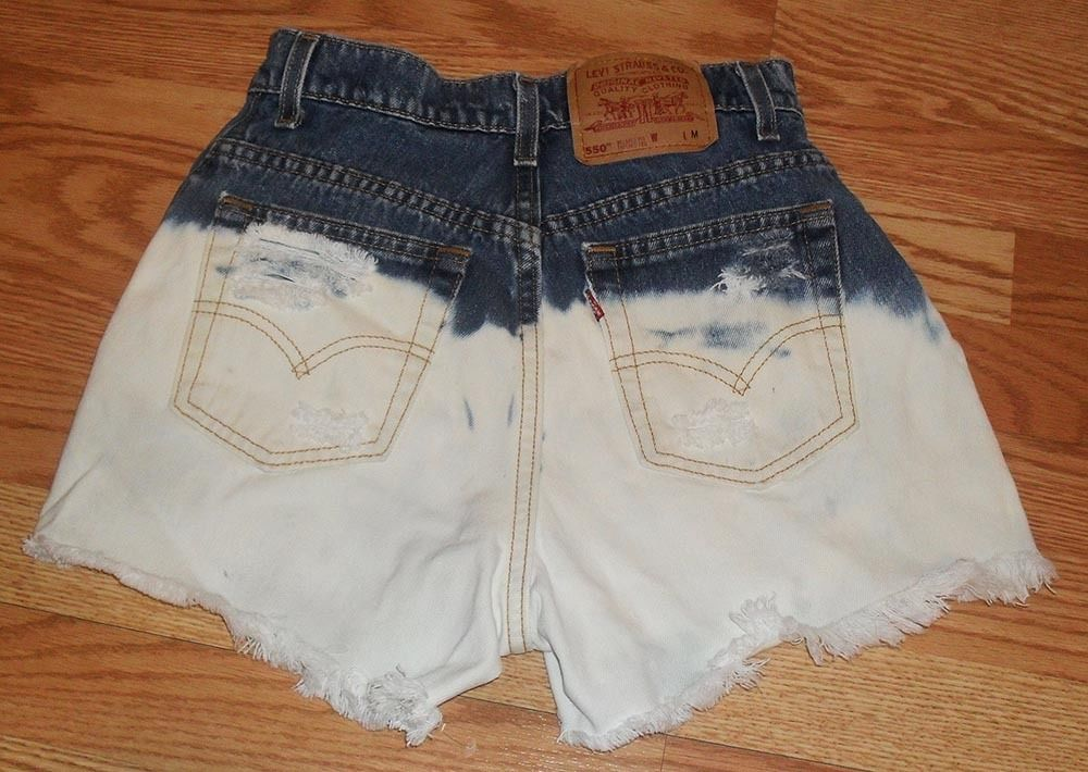 High Waisted Ombre Distress Levi Jean Shorts Brandy Melville Urban Outfitters | eBay