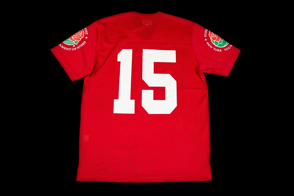 SUPREME FOOTBALL JERSEY | ROSES | S/S 2013 | NAVY | SS13KN7-RED