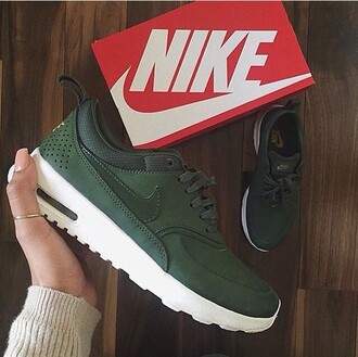 shoes khaki army green nike nike shoes style stylish green sneakers