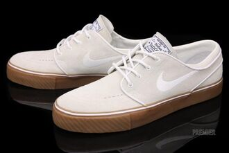 shoes nike sb nike white shoes nike running shoes khaki stephan janoski gum sole brown new