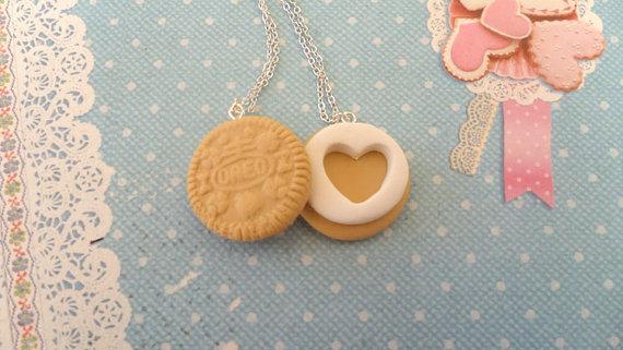 Best friend golden oreo style necklaces