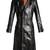 Hybrid leather trench coat