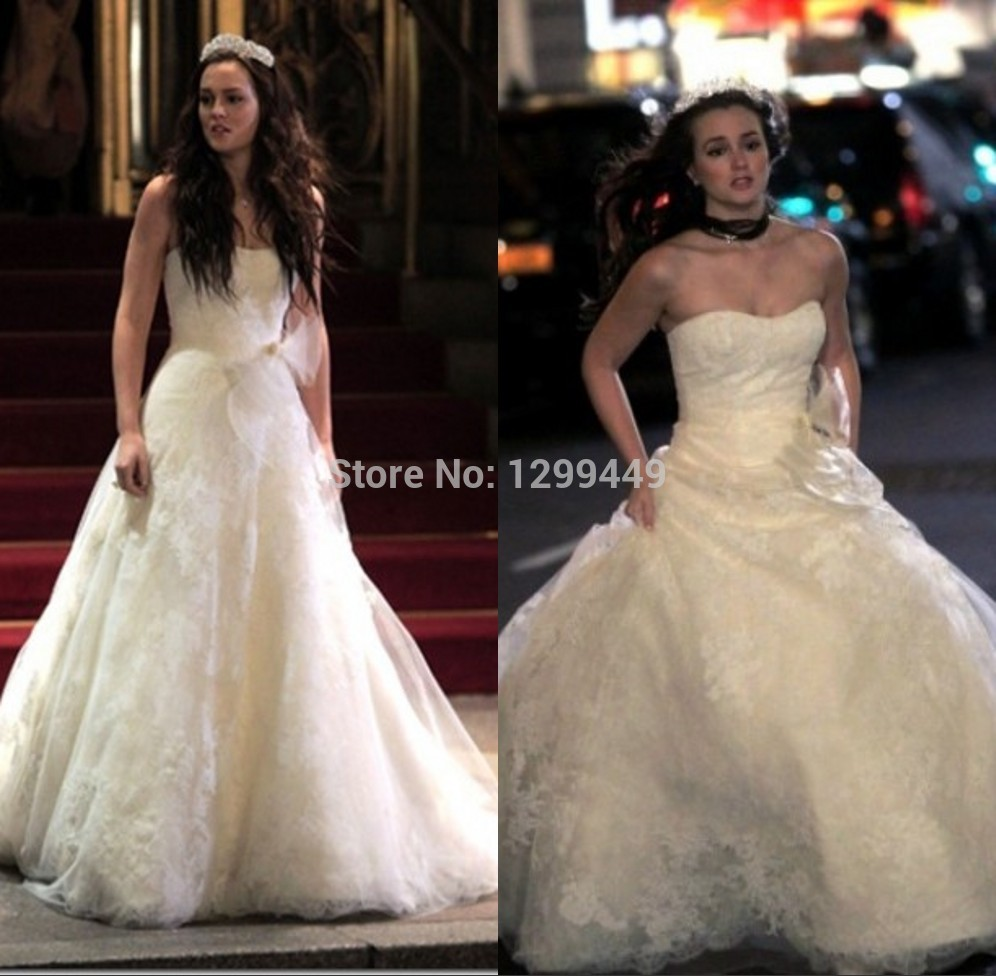 Gown material picture more detailed picture about 2015 popular gown material picture more detailed picture about 2015 popular leighton meester blair gossip girl royal wedding dress custom made bridal party gown long ombrellifo Gallery