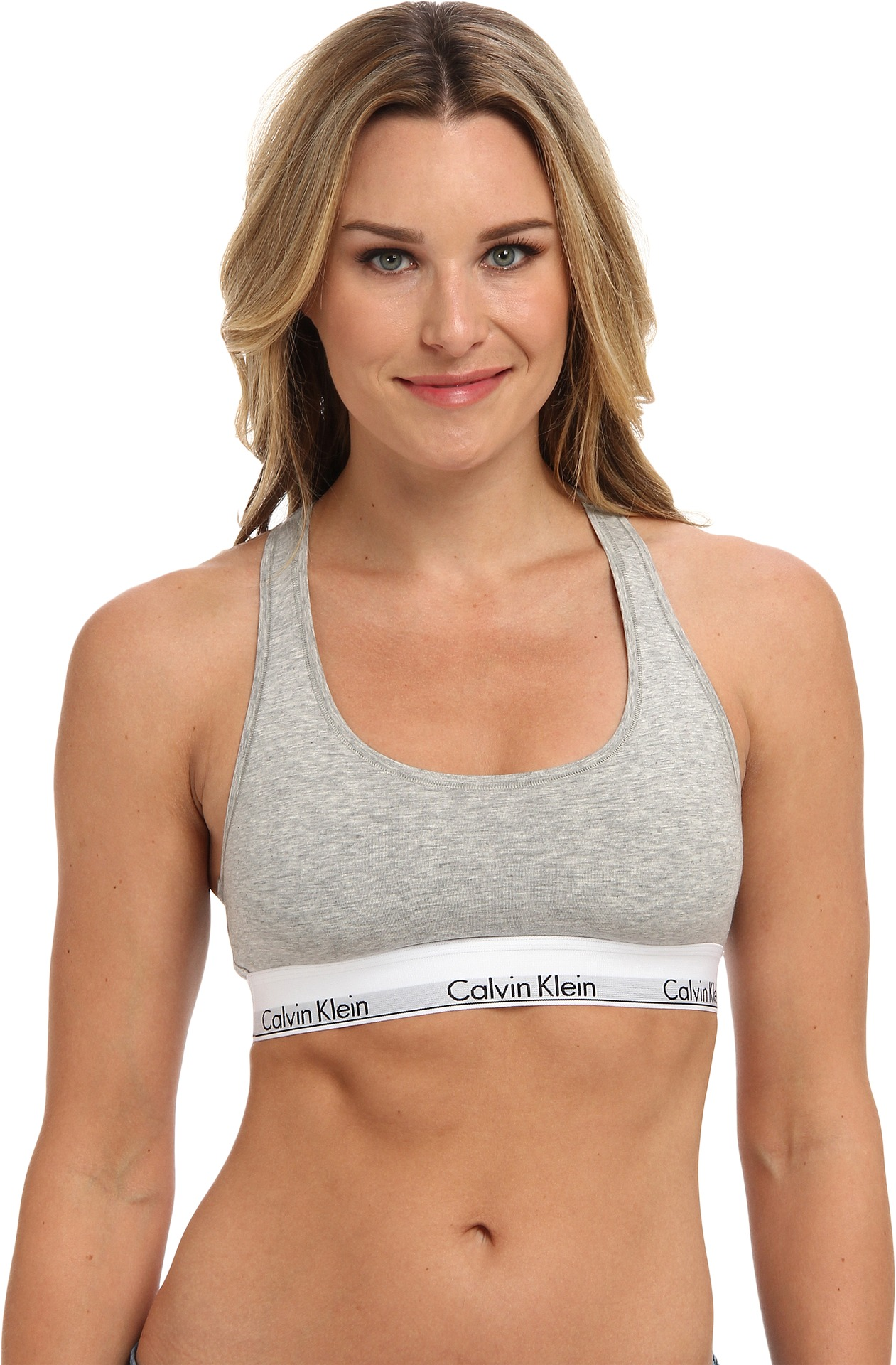 Calvin Klein Underwear Modern Cotton Bralette F3785 Grey Heather - Zappos.com Free Shipping BOTH Ways