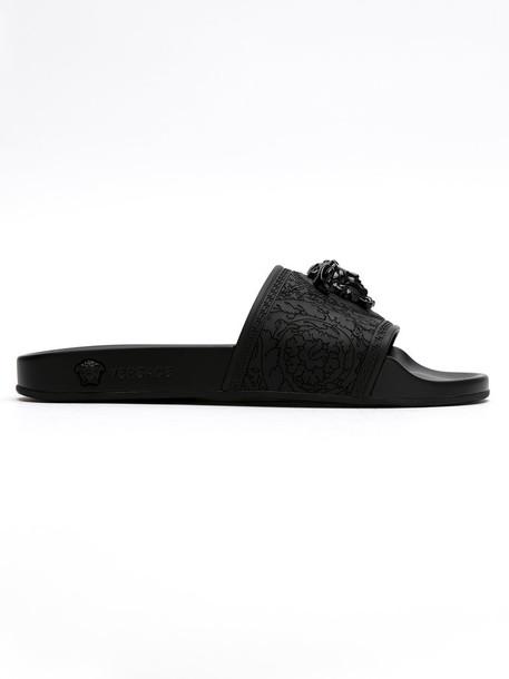 VERSACE women black shoes