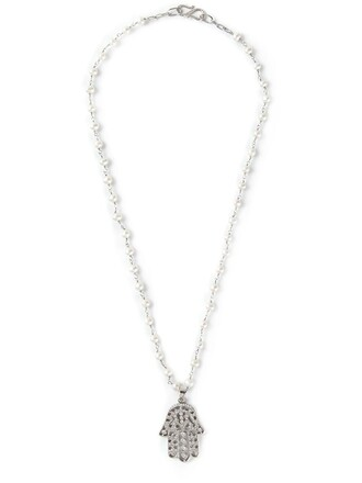 women necklace gold white jewels