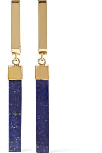 earrings gold navy jewels
