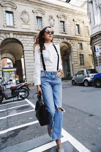 style scrapbook blogger top bag shoes sunglasses