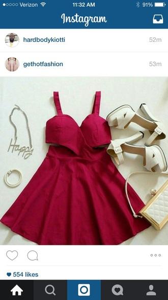 dress red dress red carpet dress cut-out dress red prom dress