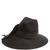 Decorative-bow wool-felt hat