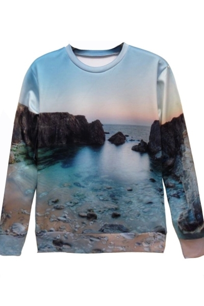 Tyler Oakley | Lifelike Sea Graphic Sweatshirt by Oasap on Luvocracy