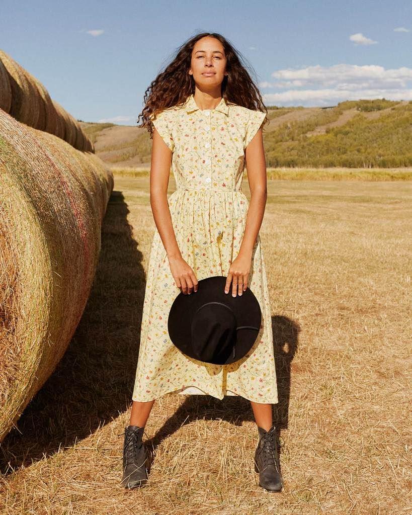 The Piper Dress (Long) | Wildflower Field (Cotton)