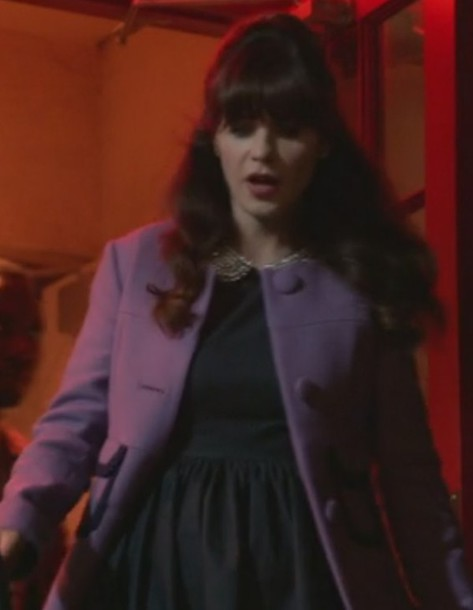 coat wool jessica day new girl zooey deschanel