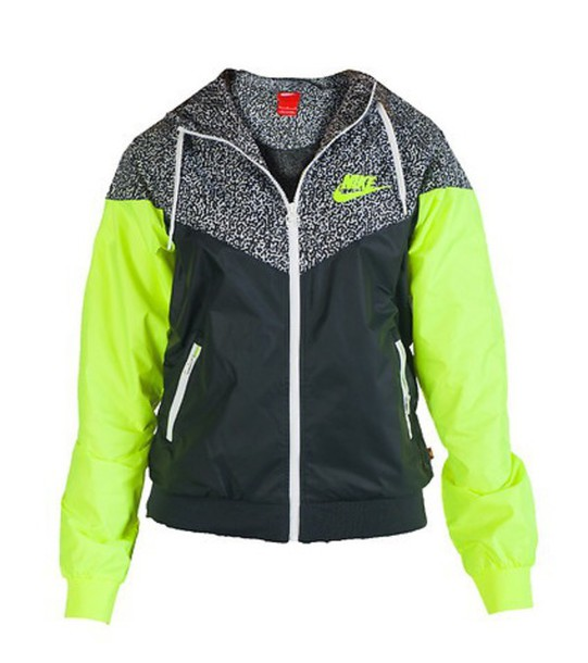 Jacket: nike, nike jacket, lime, grey, black, cute, windrunner ...