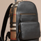 Burberry   multicolor textured leather and house check backpack for men   lyst