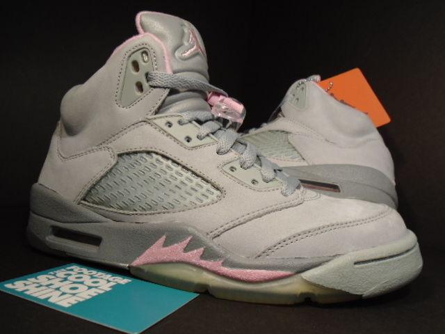 4c26a380df8759 06 Nike Air Jordan V 5 Retro SILVER WOLF GREY SHY PINK STEALTH 313551-061  7.5 6