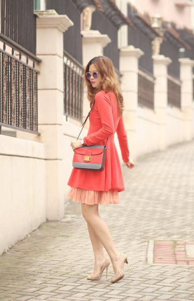 mellow mayo blogger sunglasses dress bag shoes
