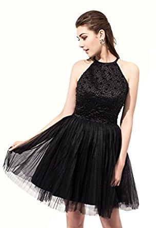 Amazon.com: MisShow Women's Rhinestone Backless Short Chiffon Cocktail Prom Dress: Clothing