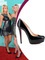 Paris hilton heels black patent leather round toe red bottom platform stiletto 130 mm new simple pump pumps