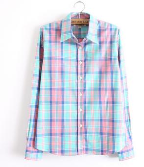 Cotton pattern blouse top blogger shirt