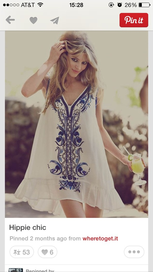 dress white blue