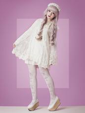 dress,cult party kei,mori kei,mori,mori fashion,harajuku,japanese,see through dress,white,bows,lace,flower girl,fairy-like,kawaii,shoes
