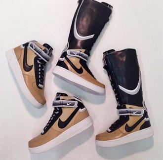 sneakers style nike sneakers high top sneakers bage white black