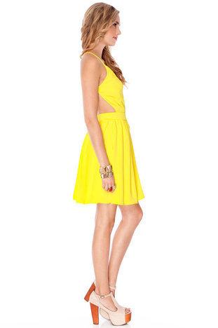 yellow dress from tobi