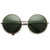 Oversize Vintage Inspired Metal Round Circle Sunglasses 8370                           | zeroUV