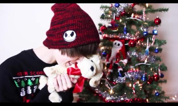 hat jeydon wale beanie jack skellington the nightmare before christmas emo wheretoget