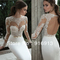 Sexy illusion jewel neck applique backless berta bridal long sleeve sheath wedding dresses floor length bridal gowns open back -in wedding dresses from apparel & accessories on aliexpress.com