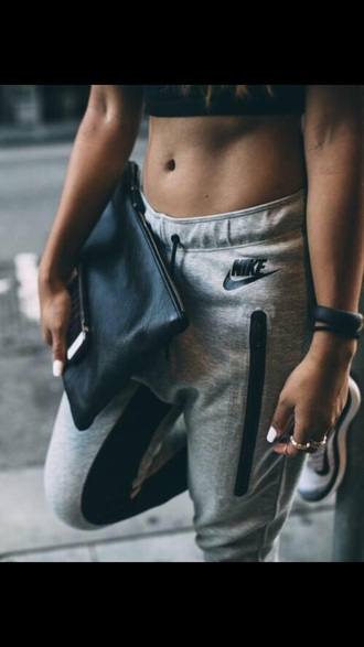 pants nike grey baggy pants