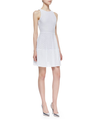 BCBGMAXAZRIA Cassandra Netted A-Line Dress