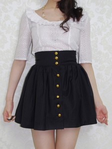skirt black skirt blouse white blouse