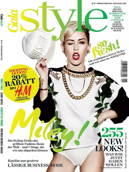 sweater oversized miley cyrus cover magazin gala style green 2014 miley cyrus sweatshirt