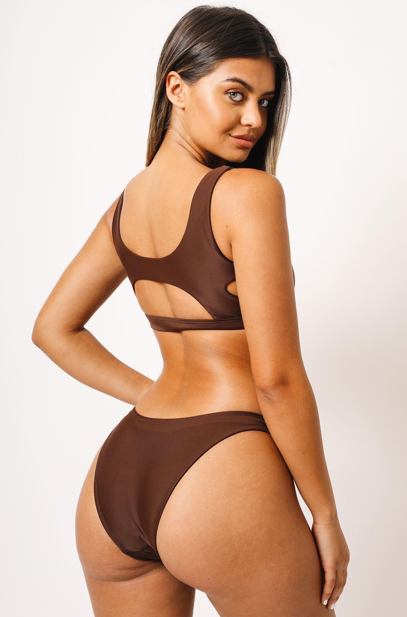 Shelby Bikini Bottom in Brown