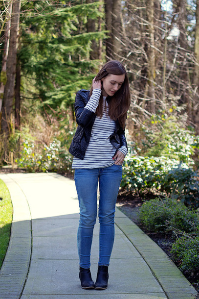 Girl And Closet Jacket T Shirt Jeans Shoes Wheretoget
