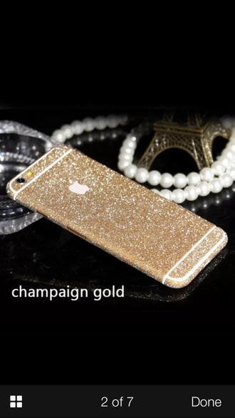 phone cover gold glitter