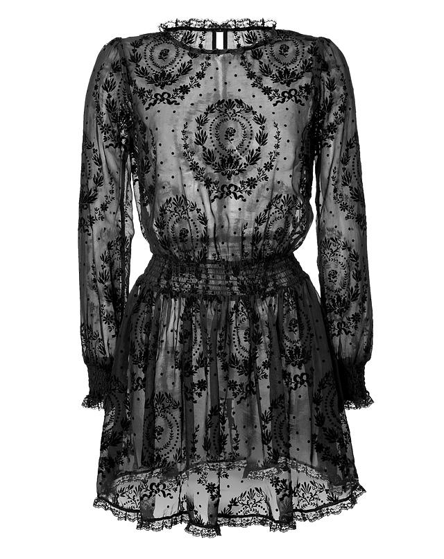 RED Valentino - Velvet Print Silk Dress