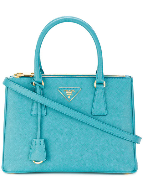 Prada women leather blue bag