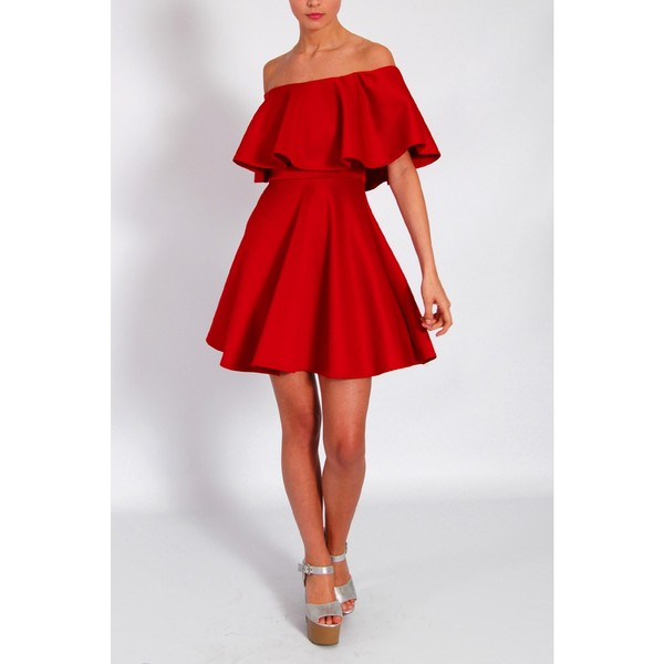 dress rare red off the shoulder dress rare rare london
