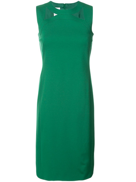 dress cut-out women spandex green
