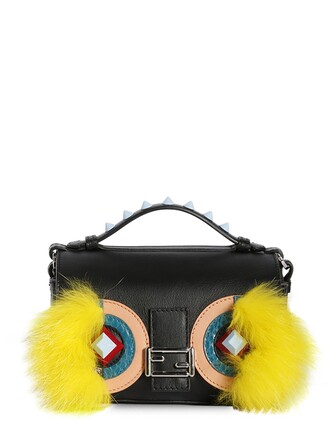 fur bag leather bag leather multicolor