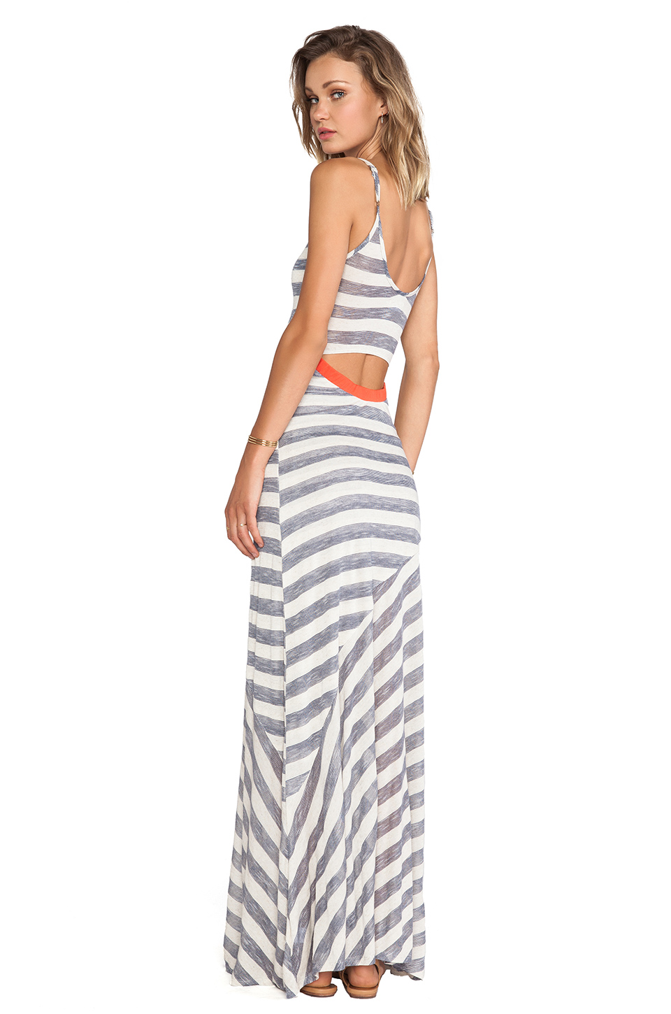 Nation LTD Annondale Dress in Oatmeal Stripe from REVOLVEclothing.com
