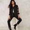 Lienzy американский apparelspring куртки женщин роза вышивка рукав vintage черный серый женщины джинсовый жакет купить на aliexpress